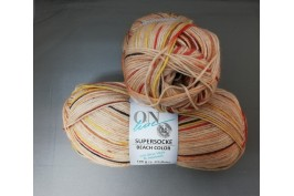 Supersocke Beach Color 2619 beige-oranje