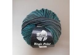 Bingo print 611 groen-grijs